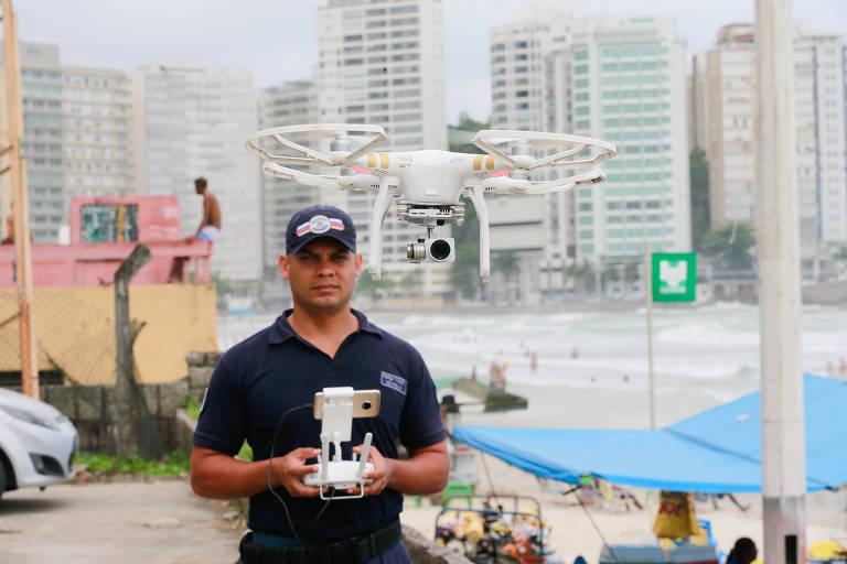 Santos, Guarujá e Praia Grande terão drone contra roubo e até afogamento
