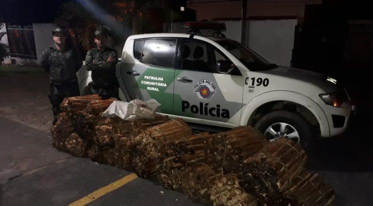Polícia Ambiental apreende grande quantidade de palmito Jussara em Guapiara/SP