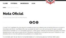 Corinthians repudia comentário de apresentador da Globo News