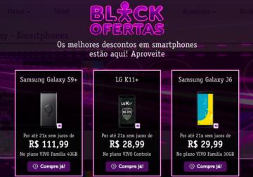 Na Black Ofertas da Vivo, o Samsung Galaxy S8 sai por R$1.099,00 e compras na loja online saem com até 10% off