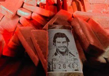 Embalagem de maconha trazia foto de Pablo Escobar