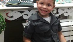 Garoto ganha festa de aniversário com tema 'Polícia Militar'