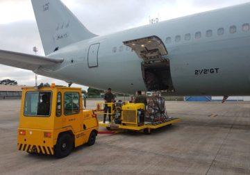 Avião com ajuda huminatária à Venezuela está em Boa Vista