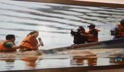 Ao vivo: Barco afunda com equipe da Globo dentro