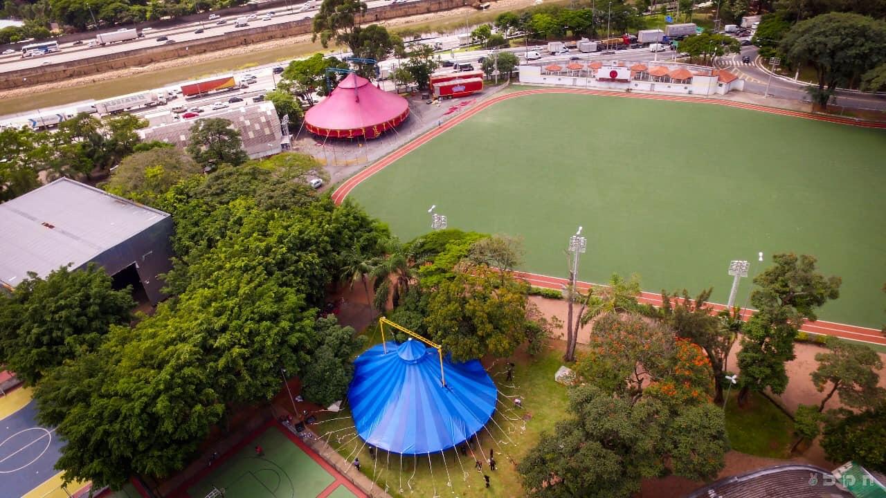 Cidade do Circo montada no Parque Tietê (FIC/Facebook/Reprodução)