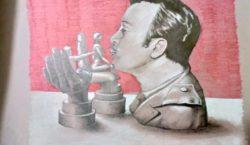 Ator e cantor mexicano ganha busto de beijoqueiro