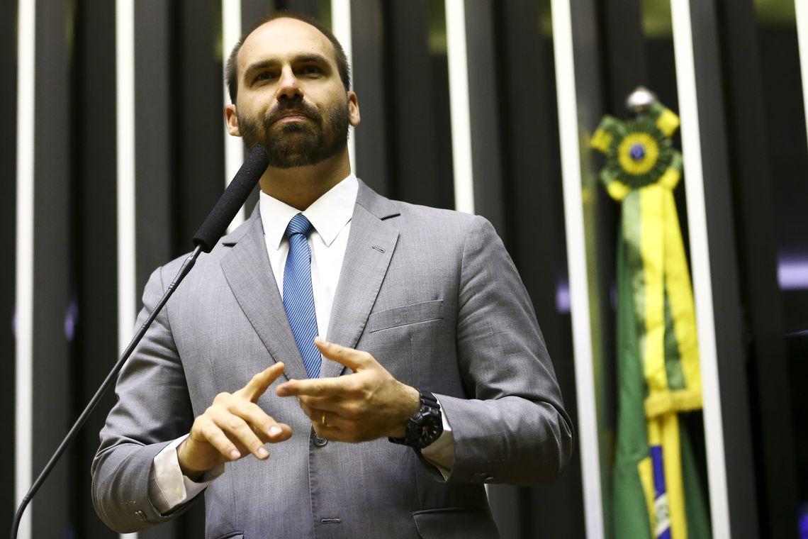 Eduardo Bolsonaro, deputado federal (Marcelo Camargo/Agência Brasil)