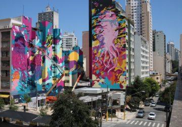Grafite gigante dá cara nova a rua no Centro