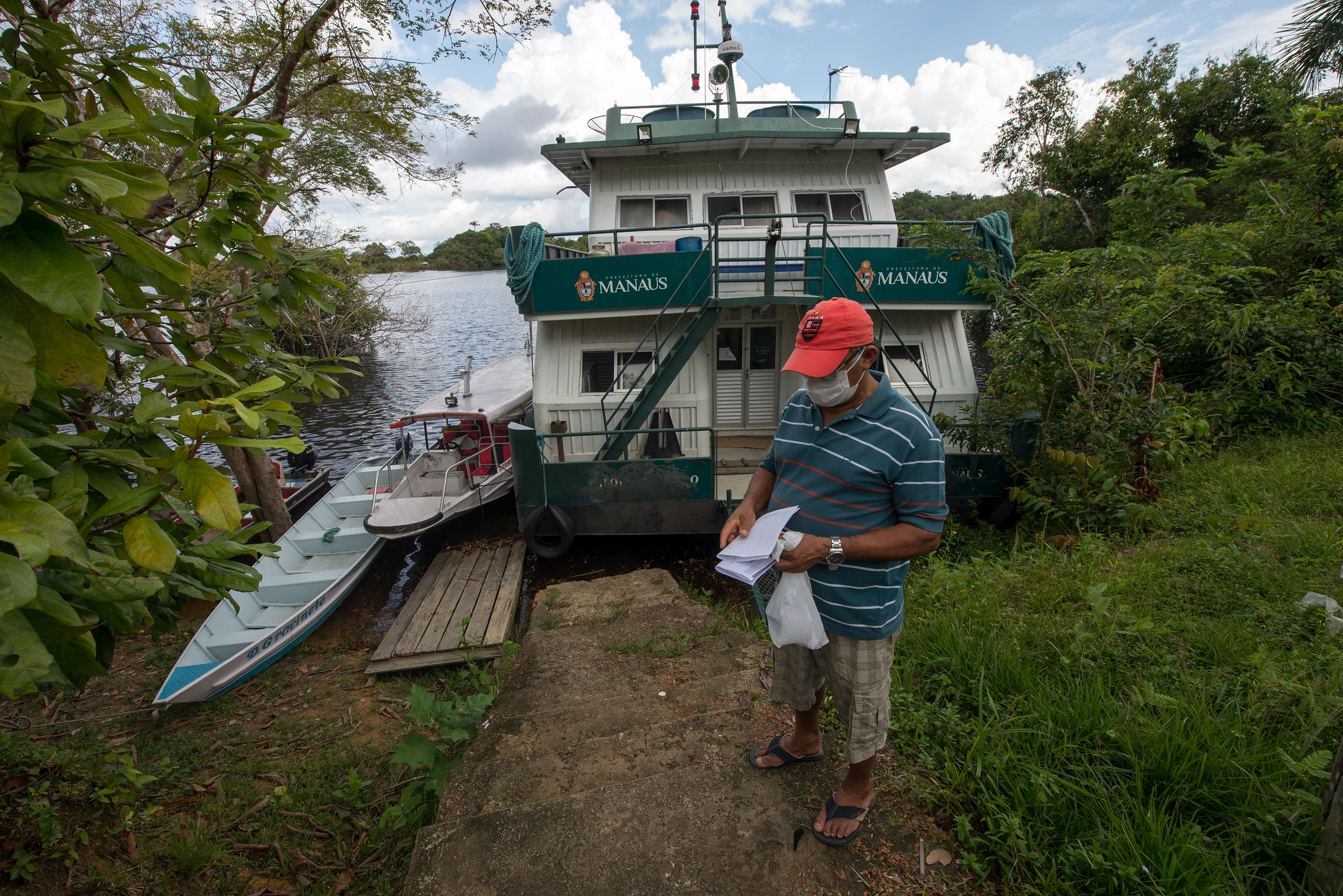 UBS Fluvial leva serviços de saúde à comunidade ribeirinha Bela Vista do Jaraqui, no Amazonas (Alex Pazuello/Gov. do Amazonas/Fotos Públicas)