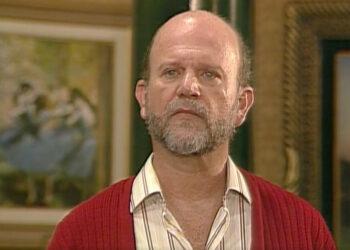 Cecil Thiré durante a novela 'A próxima vítima' (TV Globo/Reprodução)