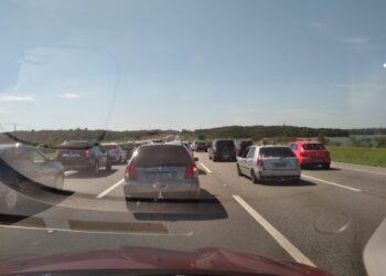 Congestionamento na Imigrantes (Nivaldo Lima/SP Agora)