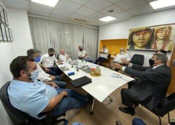 Representantes das associações reunidos com deputados da Alesp (Divulgação)