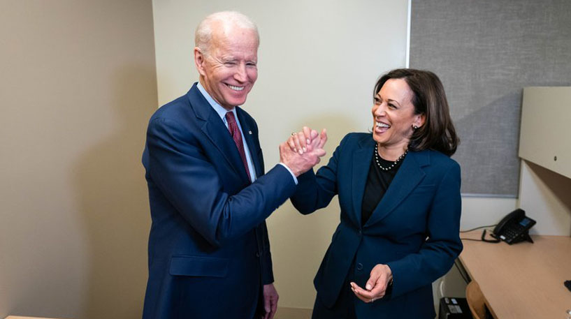 Joe Biden, Presidente dos Estados Unidos, e Kamala Harris, vice-Presidente (RS/via Fotos Públicas)