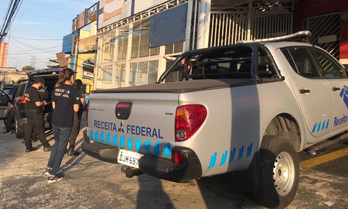 Mandados são cumpridos em São Paulo e mais três cidades da região metropolitana (Receita Federal/Reprodução)