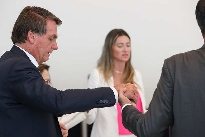 Jair Bolsonaro, presidente da República, durante café da manhã com deputado (Marcos Corrêa/PR)