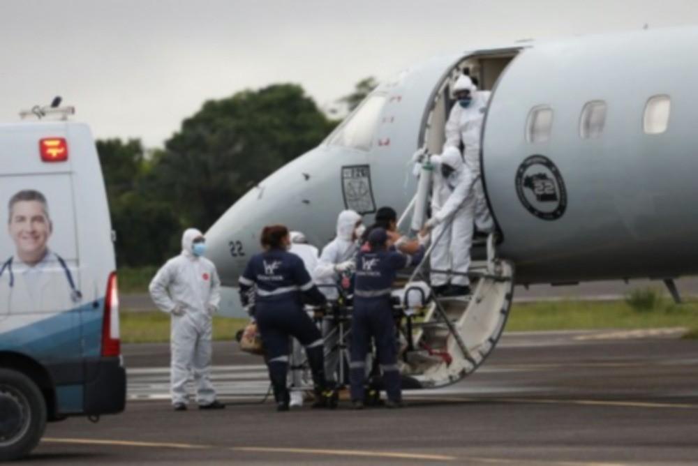 Pacientes de Manaus também foram levados para outros estados (Lucas Silva/Gov. do Amazonas)