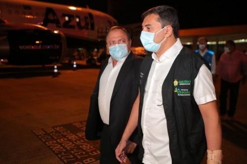 Wilson Lima (PSC) e Eduardo Pazuello (Diego Peres/Gov. do Amazonas)