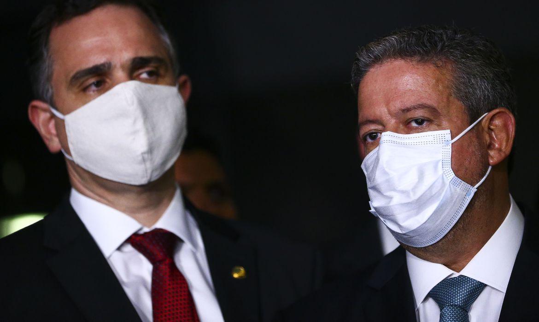 Os presidentes do Senado Federal, Rodrigo Pacheco, e da Câmara dos Deputados, Arthur Lira (Marcelo Camargo/Agência Brasil)