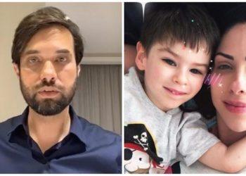 Dr. Jairinho, vereador no Rio de Janeiro, menino Henry e Monique Medeiros, mãe do garoto (CNN/Reprodução)