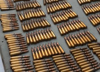 Munição de fuzil encontrada pelos policiais (Reprodução)