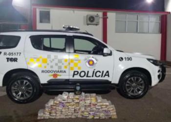Droga seria levada para São Paulo (Polícia Militar/Reprodução)