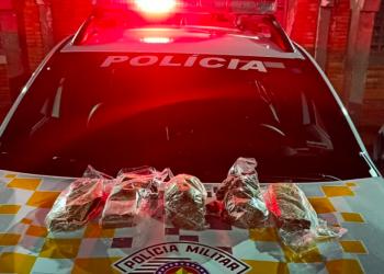 Droga seria revendida em Botucatu, segundo um dos presos (Polícia Militar/Reprodução)