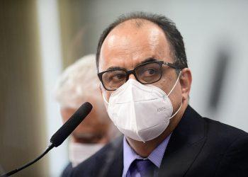Amilton Gomes de Paula durante depoimento à CPI da covid-19 (Pedro França/Agência Senado)