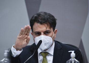 Otávio Oscar Fakhoury, empresário, durante depoimento no Senado (Leopoldo Silva/Agência Senado)