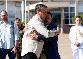 Jair Bolsonaro, Presidente da República, e Hamilton Mourão, vice-Presidente (Alan Santos/PR)