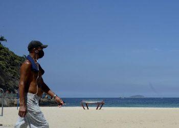 Praia do Leme, na zona sul do Rio de Janeiro (Tânia Rêgo/Agência Brasil)